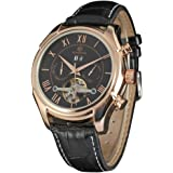 FORSINING Top Brand Luxury Tourbillon Wristwatch Men Gold Skeleton Military Automatic Watch