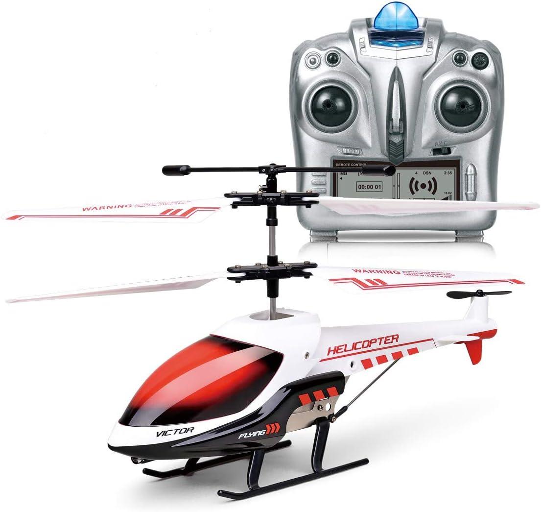 Helicóptero RC Juguete de Control Remoto Mini Helicóptero de Canal 3,5CH Giroscopio y Luces LED Incorporados Helicóptero para Niños y Adultos Juguetes para Niños y Niñas