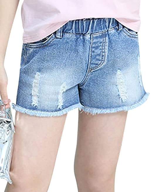 Pantalon Vaquero Corto Rotos Mini Shorts Denim Bermudas para ...