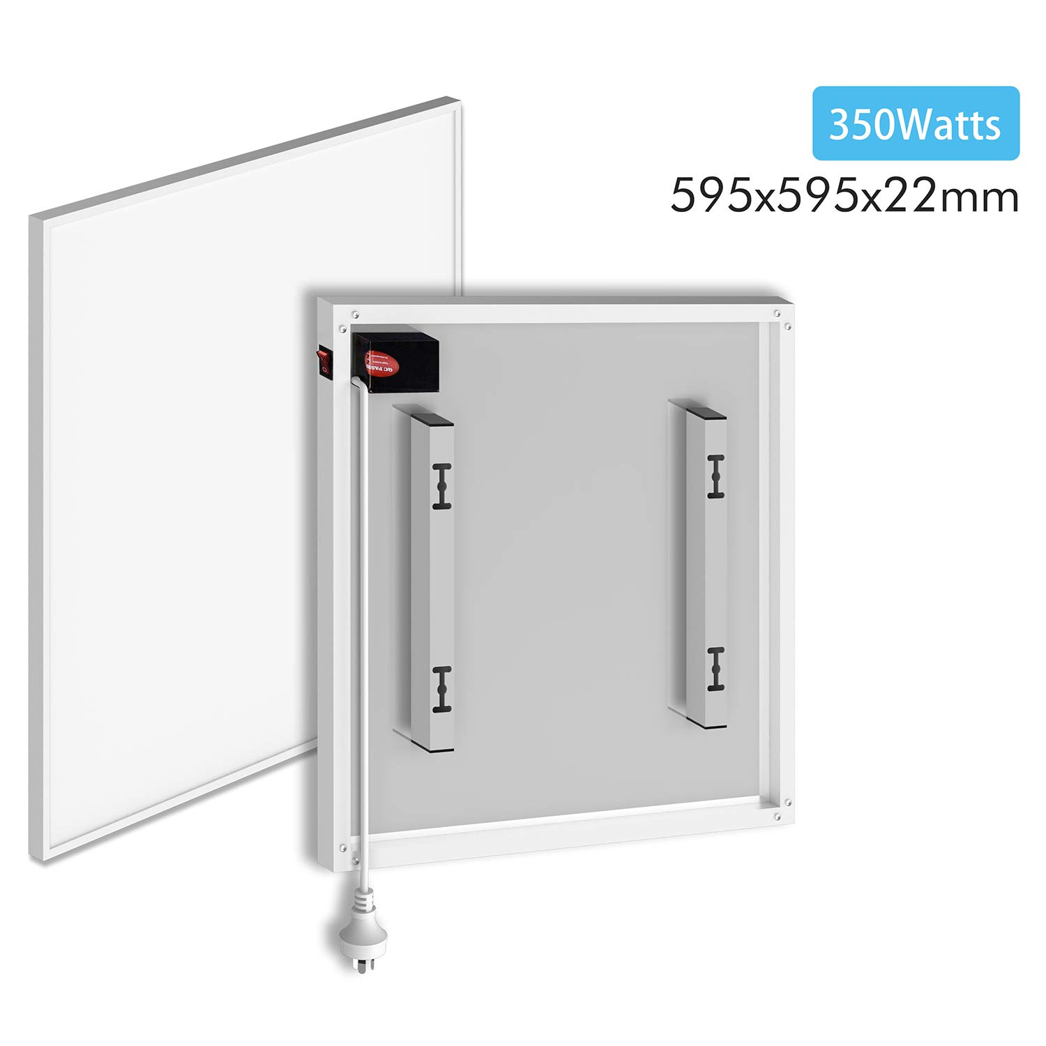 ELEGANT Slim panel heater only 22 mm thick-with CE//RoHS//Certificate electric low energy heater wall mounted- IP54 Rated for Safety Use 350W Energy Efficient Far Infrared Panel Heater