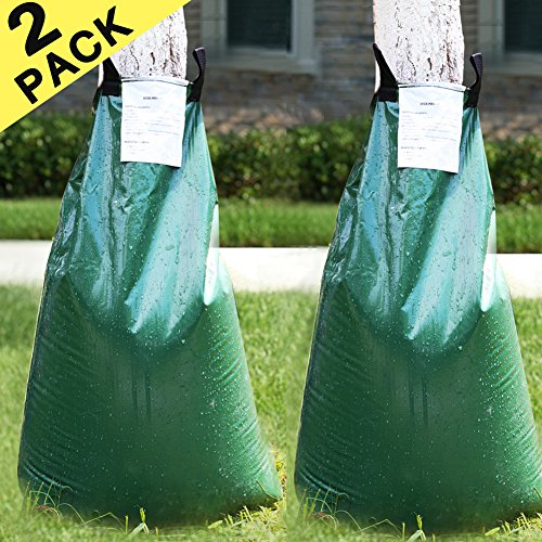 cyrico Tree Watering Bag Premium 2 Pack 20 Gallon Watering Bag for Tree Made of Sturdy PVC with Heavy Duty Zipper Slow Releasing Tree Watering Bag Automatic Watering Tree(5-8 Hours Releasing Time)