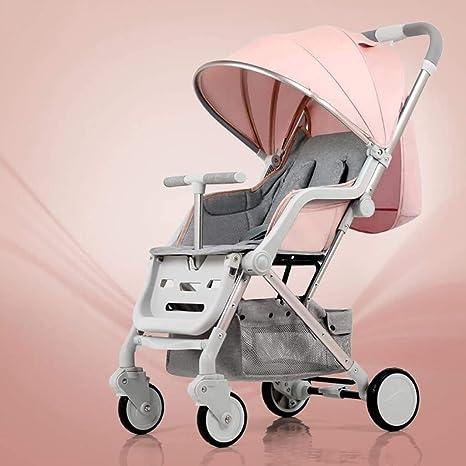 Opinión sobre OESFL Cochecito puede sentarse Horizontal mini paraguas plegable portátil de 4 ruedas de choque de la compra recién nacido Estaciones universal sombra de viaje opcional 5