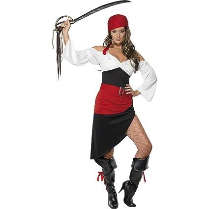 NET TOYS Traje de Pirata asesina Disfraz bucanero Vestido ...