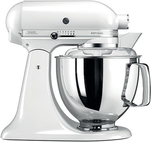 KitchenAid Artisan - Robot de cocina (Color blanco, Acero ...
