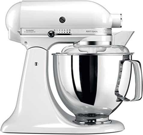 KitchenAid Artisan - Robot de cocina (Color blanco, Acero inoxidable, 50/60 Hz): Amazon.es: Hogar