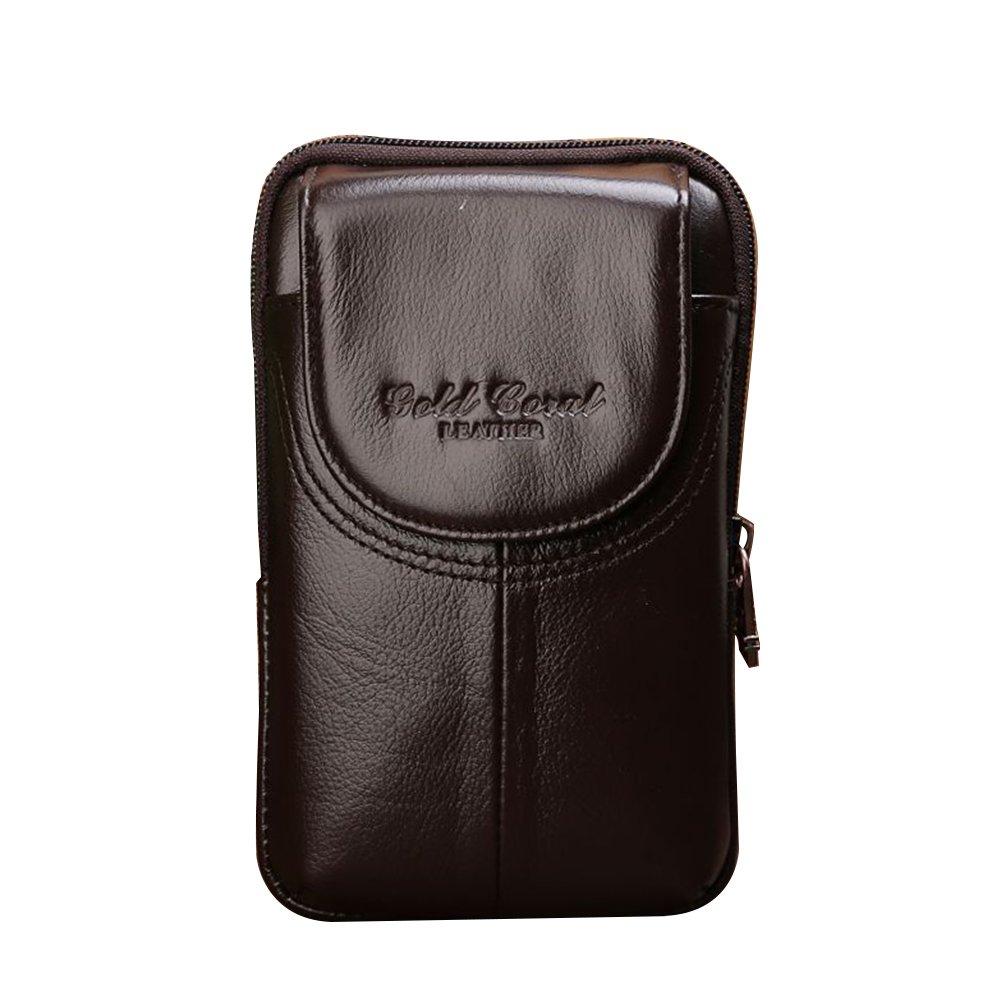 Genda 2Archer Leather Phone Pouch Small Belt Waist Bag for Men