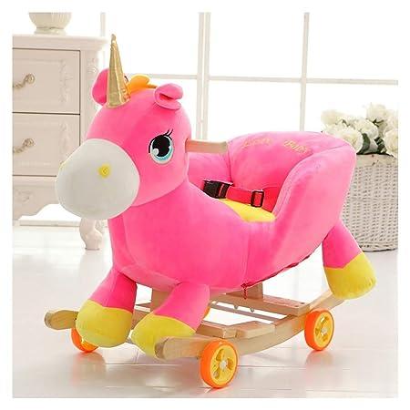 Cavallo A Dondolo Con Ruote.Cavallo A Dondolo Bambino Unicorno Rocker Con Ruote 2 In 1