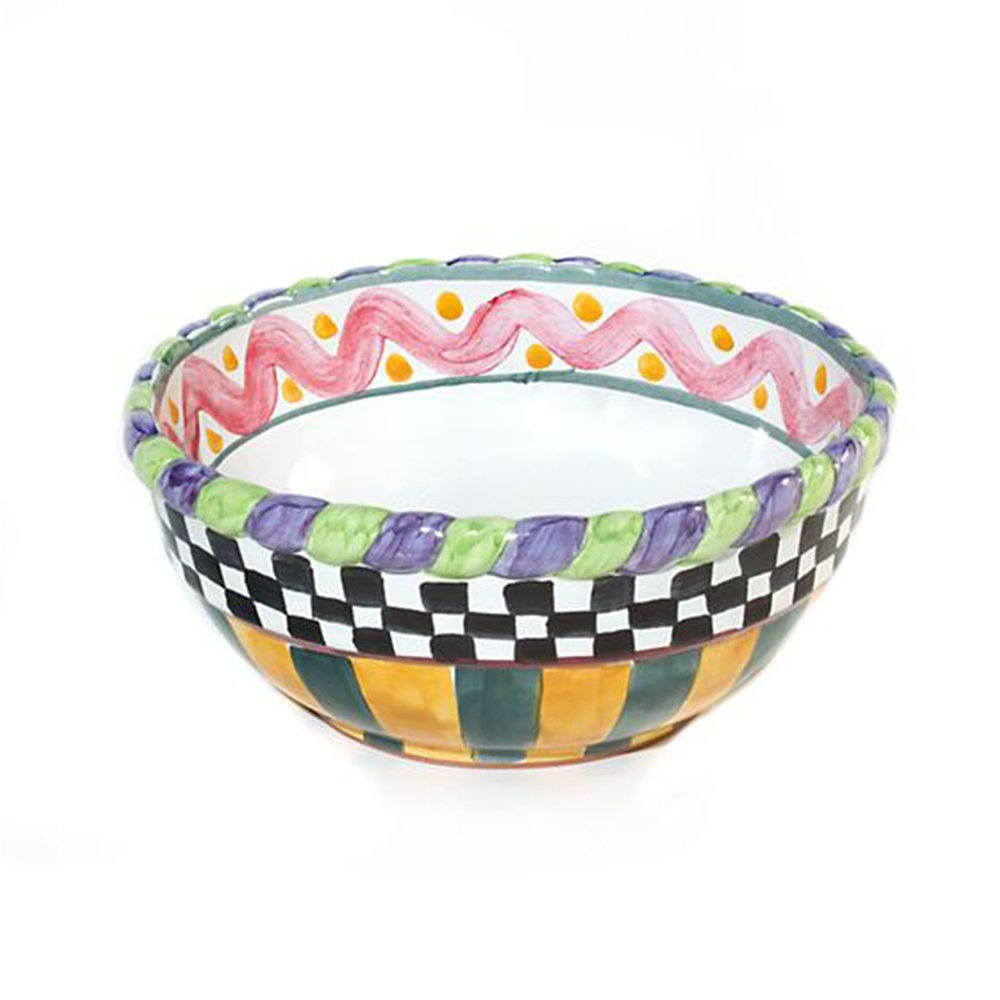 MacKenzie-Childs Small Mixing Bowl-Piccadilly