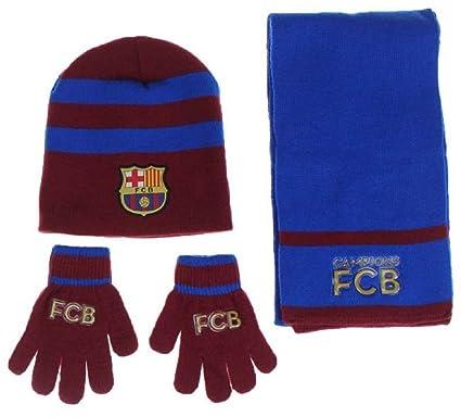 Fc Barcelone Barça Echarpe Bonnet Gant Enfant Messi Suarez Article sous  Licence Officielle 612411fd4ba