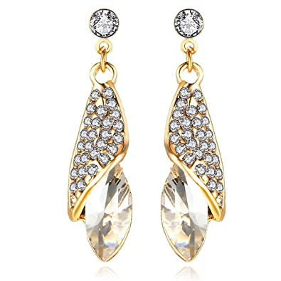 fe3222cb3 Buy Shining Diva Fashion White Crystal Stylish Traditional Earrings for  Women and Girls Online at Low Prices in India   Amazon Jewellery Store -  Amazon.in