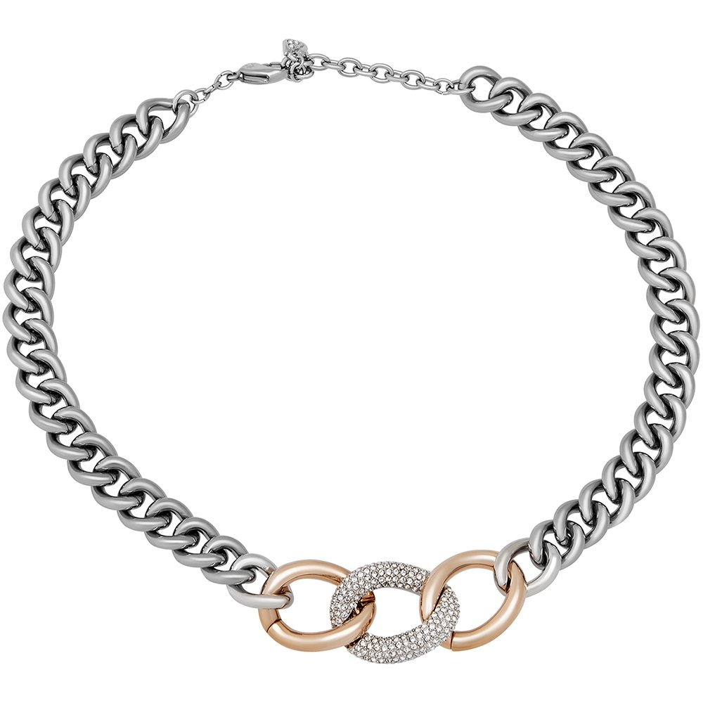 SWAROVSKI Bound 5080040 Chunky Chain Rose Gold & Palladium Plated SS Necklace by SWAROVSKI