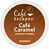 Café Escapes Coffee, Keurig K Cups, Caramel, 24 Count