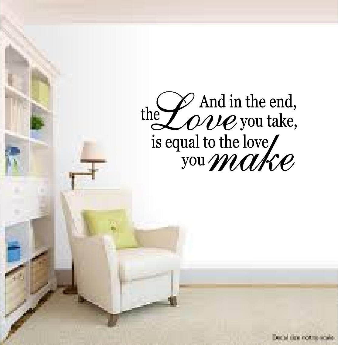 Amazon quote it the beatles abbey road love vinyl wall amazon quote it the beatles abbey road love vinyl wall decal wall quotes beatles wall quote romantic wall quotes inspirational wall quote amipublicfo Gallery