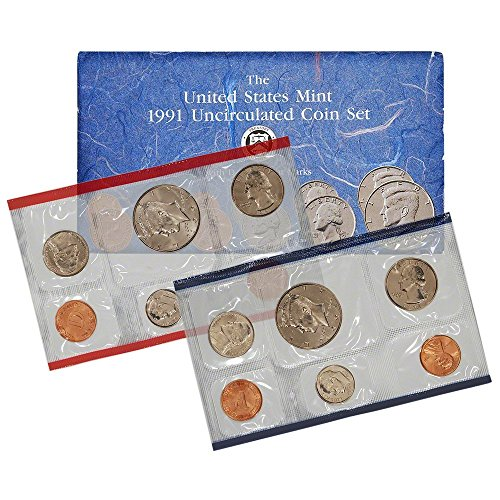 1991 US Mint Uncirculated 10-Coin Set P&D in Original Government Packaging Brilliant Uncirculated Penny Brilliant Uncirculated US Mint (1991 Mint Set)