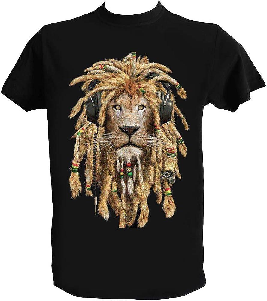 Lion Reggae Rastafari Reggae Music T Shirt Leone Rasta