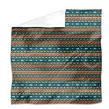 Tribal Stripes Flat Sheet: King Luxury Microfiber, Soft, Breathable