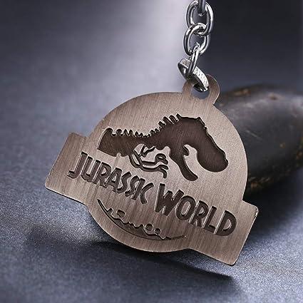 CLEARNICE Llavero Jurassic Park Key Cadena Jurásico Mundo ...