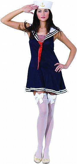 Aptafetes Cs922640 M Costume Marin Femme Ce Deguisement Comprend La Robe Et Le Chapeau M Amazon Fr Jeux Et Jouets