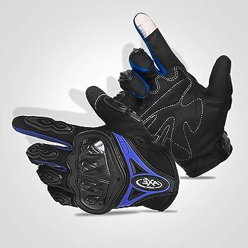 FitTrek Guantes de Moto Unisex - Guantes Moto Carretera Hombre Mujer - Guantes de Motos con Pantalla táctil - Guantes de Motocross para Escalada, ...