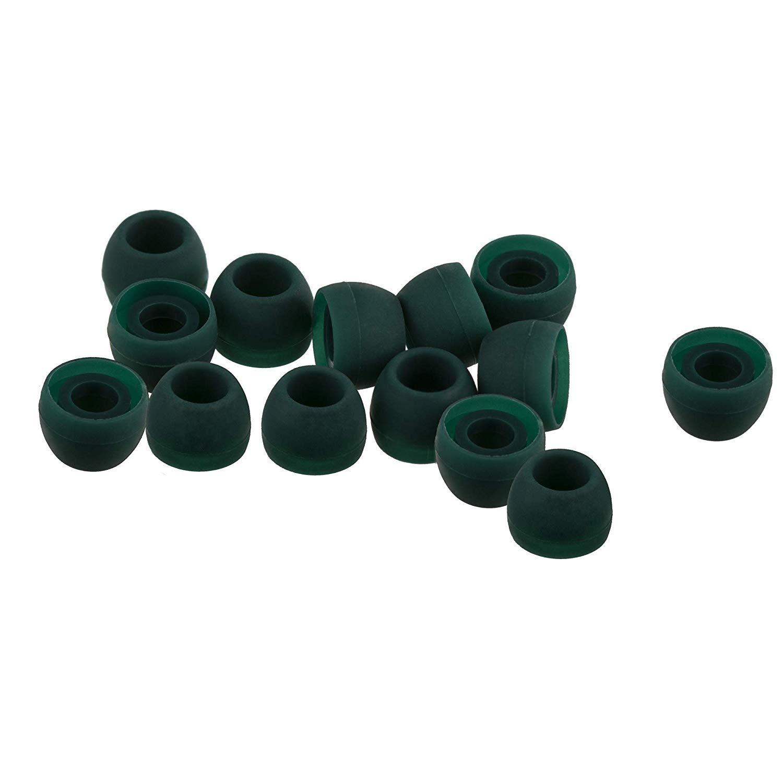 Xcessor/ Pack de 7/Pares Color Amarillo Large Emerald Green Pack of 7 Pairs /Carcasa tama/ño Grande de Repuesto Tapones de Silicona