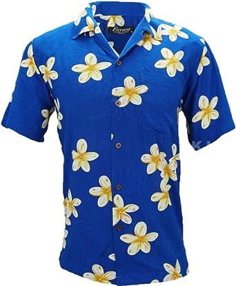Favant Tropical Luau Beach Plumeria Camisa Hawaiana con Estampado Floral para Hombre