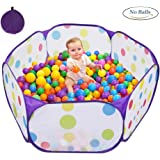 Kids Ball Pit, XBL 3.9 Ft/120CM Large Pop up Toddler Ball Pits Tent for Toddlers, Children for Indoor Outdoor Baby Ball Pool Playpen with Zipper Storage Bag, Balls Not Included (Purple)