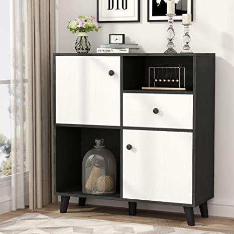 Tribesigns Accent Storage Display Cabinet with Doors, Entryway Furniture  Small Console Table Sideboard Cabinet with Drawer for Living Room, Kitchen,  ...