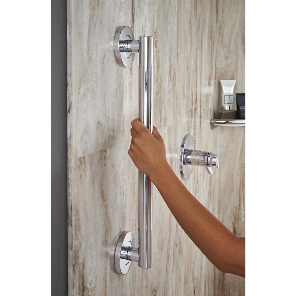 Amazon.com: Delta Faucet 41818, 18-Inch Contemporary Grab Bar ...