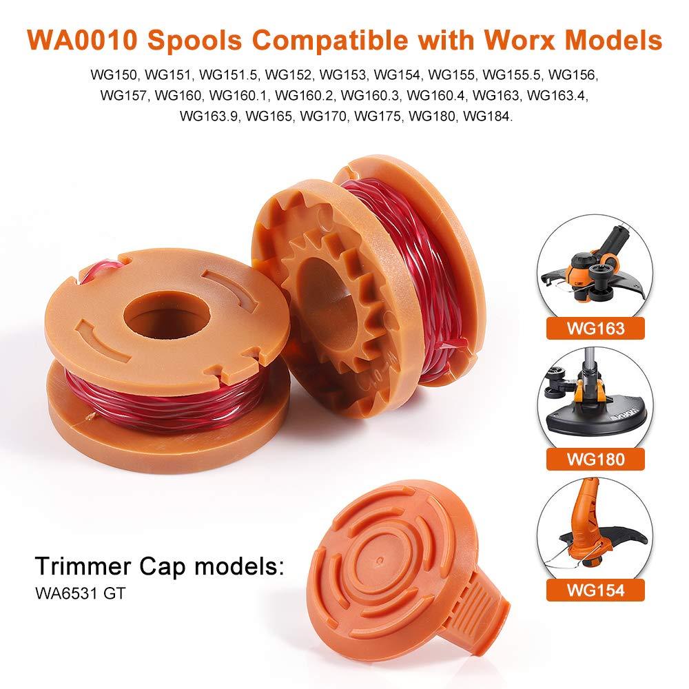 Edger Spools Trimmer Line for Worx Weed Wacker Eater String ...