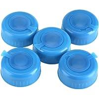 Tapa antiderrame,5 piezas Tapa de botella de agua de galón de repuesto ,Tapa antisalpicaduras reutilizable de 55 mm de…