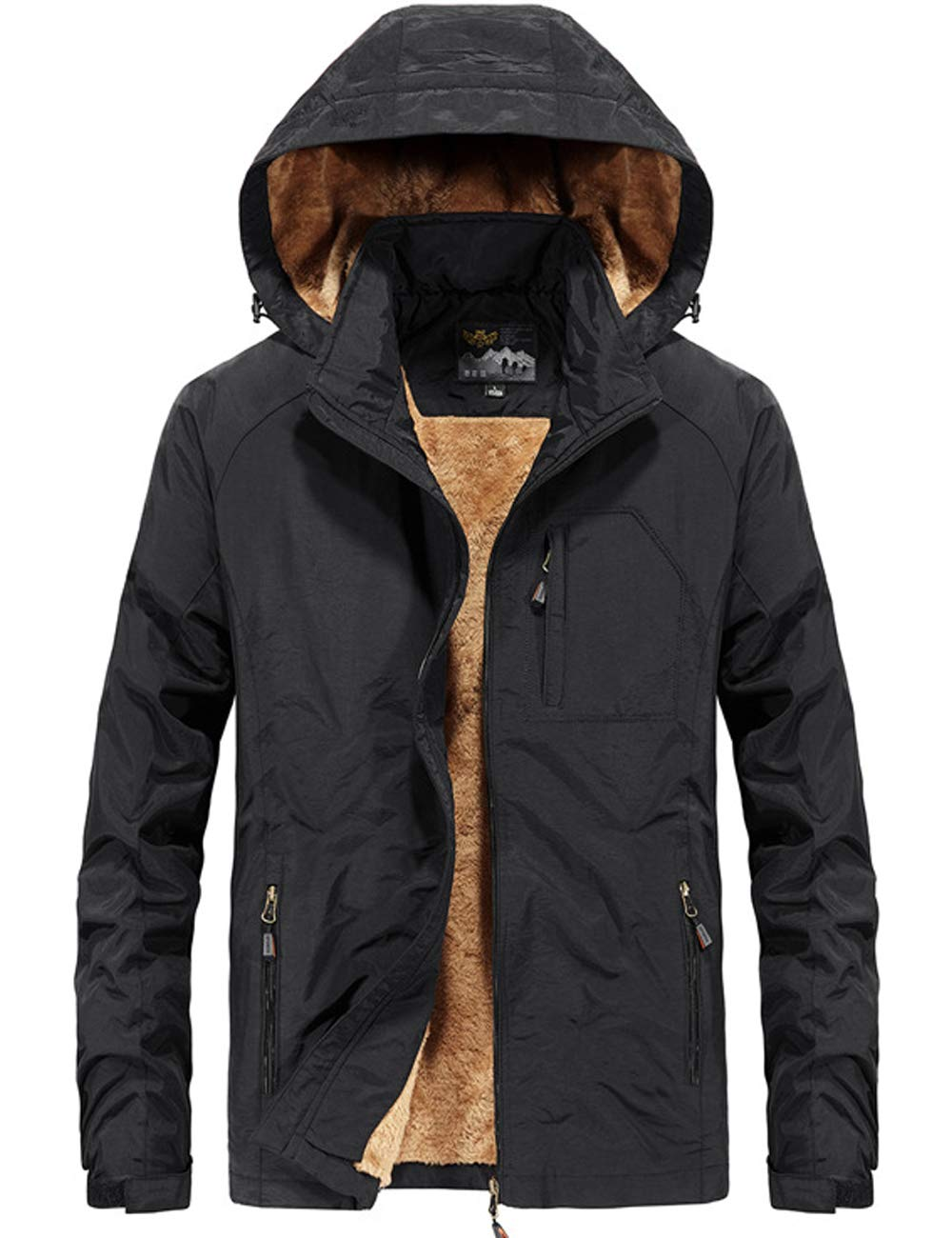 Pinkpum Men's Lightweight Windbreaker Jacket Water Resistant Jacket Black M by Pinkpum