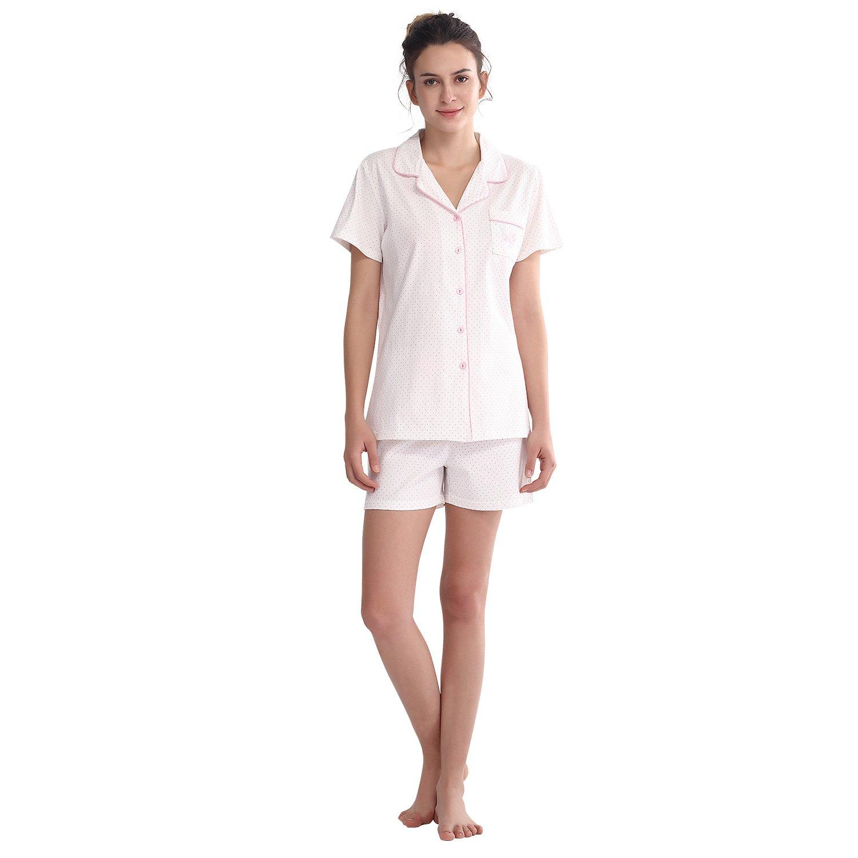 100% Cotton Juniors  Pajama Set Material  Premium 100% Cotton 2-piece set  includes  short sleeve top   short pants fbad1906d
