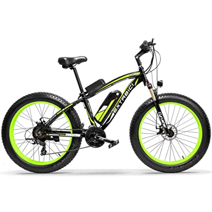 d51b650acce Extrbici Electric Bike Cruiser Bicycle Upgraded XF660 1000W 48V 17AH e-Bike  for Adults 4.0 x 26 Inch Fat Tire Mechanica Brake Brushless Shimano 7  Speeds ...