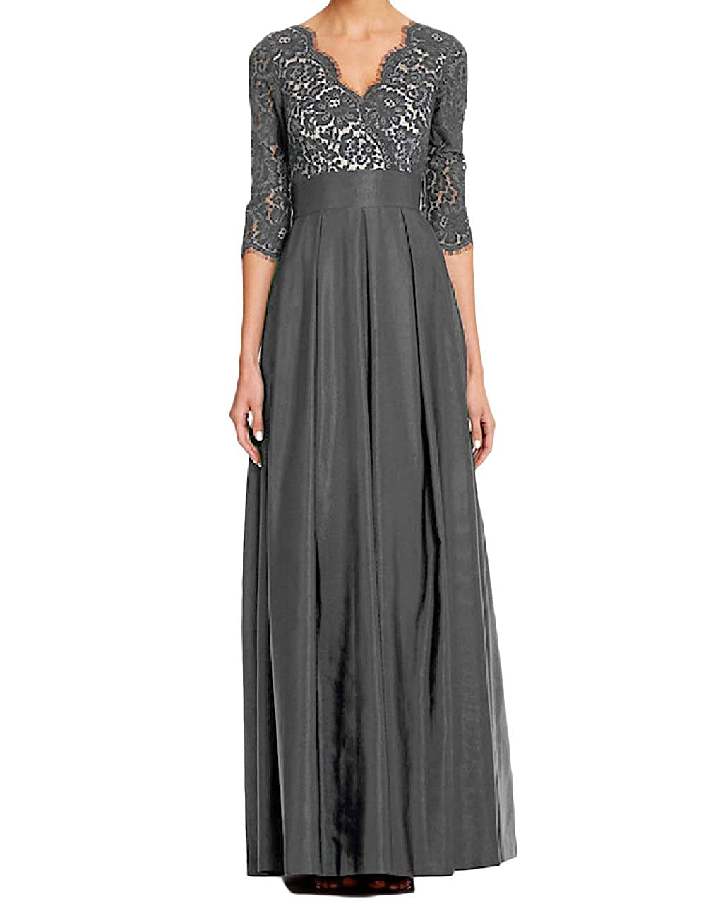OYISHA Womens 1//2 Sleeves Empire Mother of The Bride Dress Lace Formal Gown OY60MD