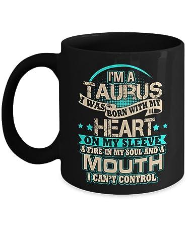 Amazon Com Taurus Zodiac Mug Best Birthday Gifts For Men Women
