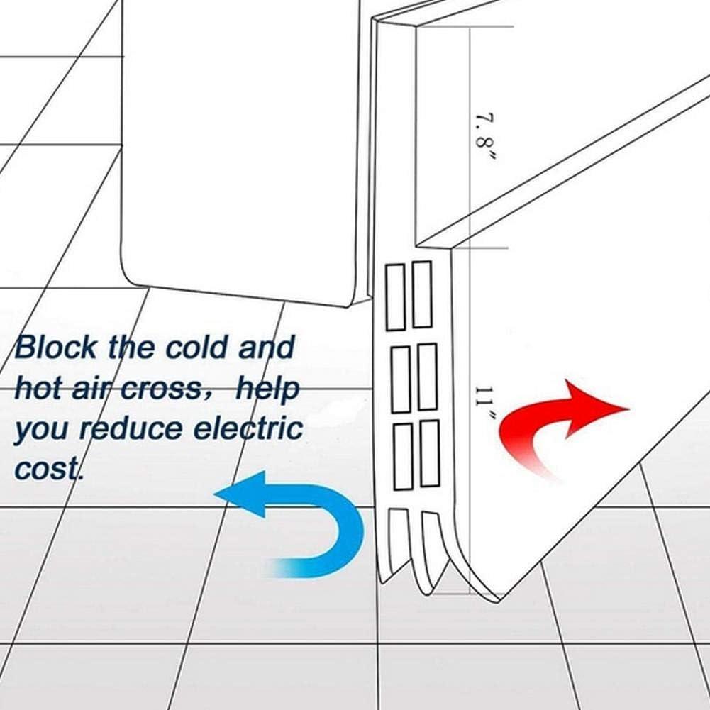 Faysida Door Stops Door Sweep Soundproof Rubber Bottom Seal Strip Draft Stopper Draught Excluder Security Door Bedroom Door Soundproof Windproof Sealing Strip(Anti-Roach and mice)