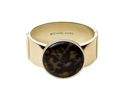 4b3330e34a50 Michael Kors MKJ3561 es de acetato de las mujeres de la tortuga y el tono  de oro pulsera brazalete de acero inoxidable Jewery  Amazon.es  Joyería