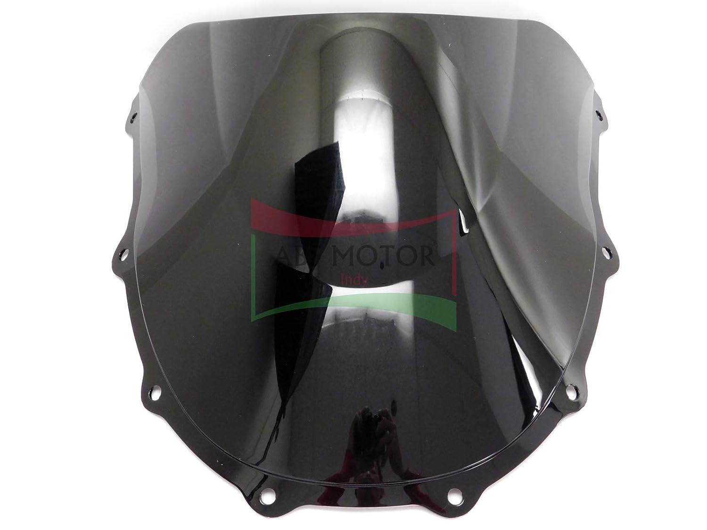 Protek ABS Plastic Injection Black Smoke Double Bubble Transparent Windscreen Windshield for 1996 1997 1998 1999 2000 2001 2002 2003 Kawasaki Ninja ZX7R ZX7RR ZX750N ZX750P