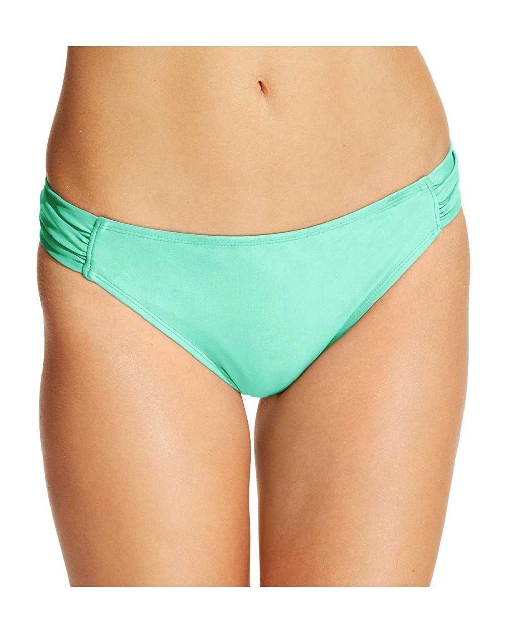 California WavesレディースRuched side-tab Bikini Bottom B06XQM54P9 M|ミント