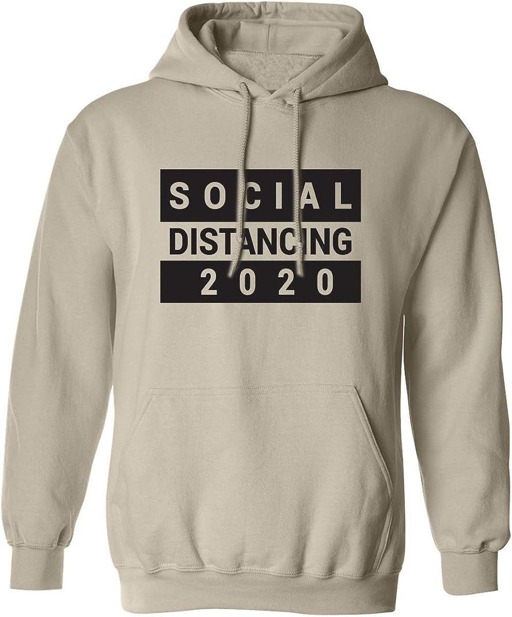 zerogravitee Social DISTANCING 2020 Adult Hooded Sweatshirt