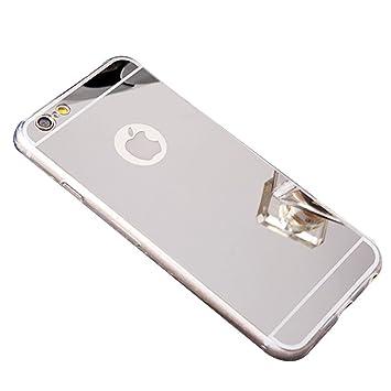 iPhone 7 Funda Espejo, purpurina Carcasa para iPhone 8,ekakashop 3d Bling brillantes suave silicona carcasa Make Up Mirror resistente al Silicona ...