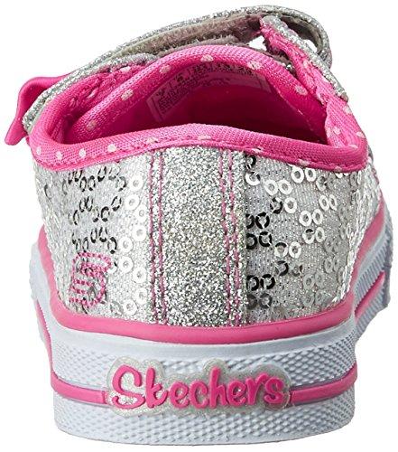 Skechers ShufflesSweet Steps Mädchen Sneakers Silber (Slhp)