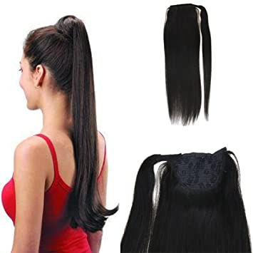 Ponytails The Cheapest Price Moresoo Kinky Straight Ponytail Hair Extensions 100 Real Remy Brazilian Human Hair Clip Human Hair Off Black Color #1b 100g Hair Extensions & Wigs