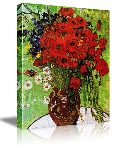 Oil Painting Red Poppies - 1
