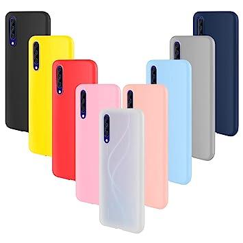 ivencase 9 × Funda Xiaomi Mi A3, Carcasa Fina TPU Flexible Cover para Xiaomi Mi A3 (Rosa Gris Rosa Claro Amarillo Rojo Azul Oscuro Translúcido Negro ...
