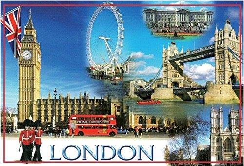 UK United Kingdom Scotland Fridge Refrigerator Magnets (1 Piece, London -D2) (United Kingdom Magnet compare prices)