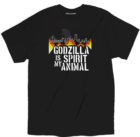 fd067744 Misky & Stone Godzilla is My Spirit Animal Tokyo City Flames Loose Fit Tee  S-