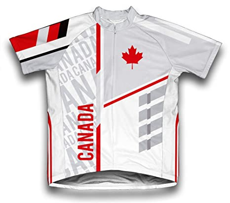 121dc937c Amazon.com   ScudoPro Canada Short Sleeve Cycling Jersey for Men ...