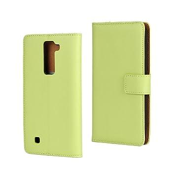 LG K8 Funda, LG K8 Carcasa, FEING Cartera Funda Carcasa Cuero Tapa Case Cover