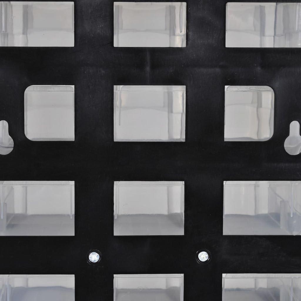 vidaXL Armoire /à Outils avec 41 Tiroirs Plastique Bo/îte /à Outils Rangement